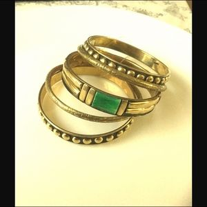 Jewelry - NWOT Adorable Brass Bangles